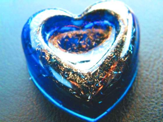 "Pandantiv orgonic ""In-Love"" albastru"