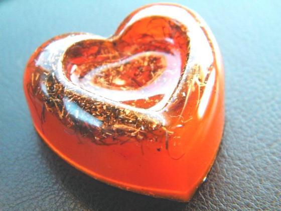 "Pandantiv orgonic ""In-Love"" portocaliu"