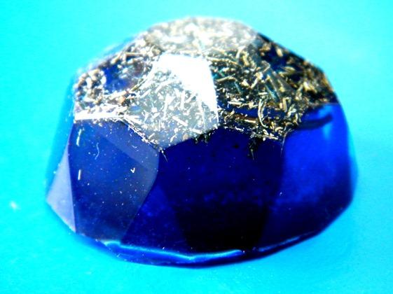 Diamant orgonic albastru