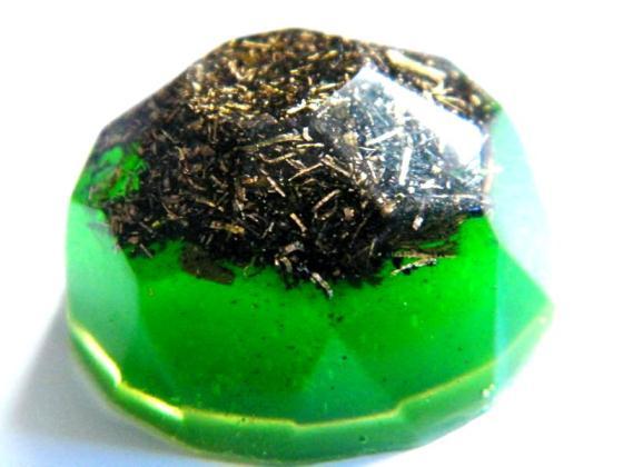 Diamant orgonic verde