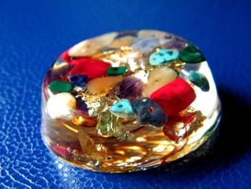 Pandantiv orgonic cilindric Crystal