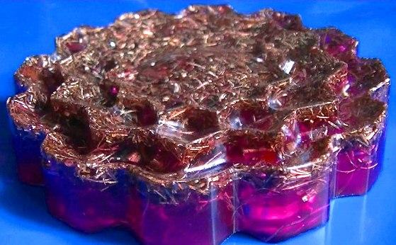 Floare orgonica violeta (red magenta) cu 12 petale
