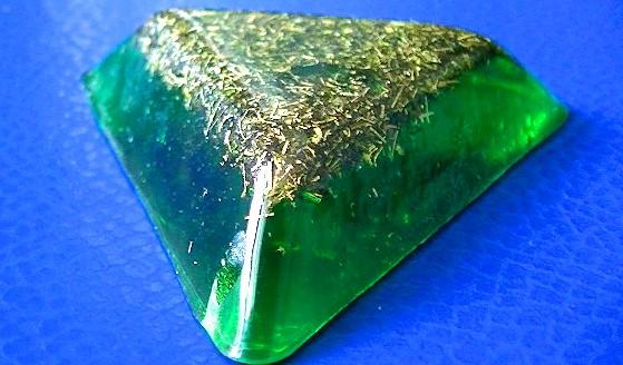 Pandantiv orgonic Trinity verde